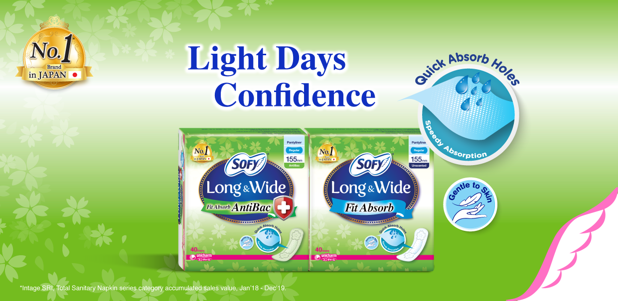 SOFY Long & Wide Pantyliner